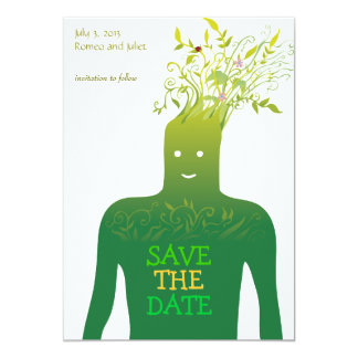 """Ecology Save the Date 5"""" X 7"""" Invitation Card"""