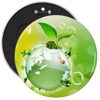 Ecology : the earth is our house - button
