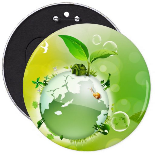 Ecology : the earth is our house - buttons