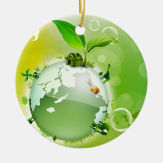 Ecology : the earth is our house - ceramic ornament