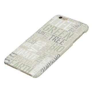 Ecology Words Glossy iPhone 6 Plus Case