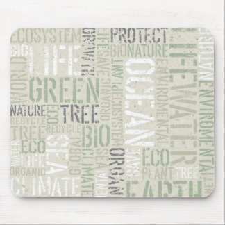 Ecology Words Mouse Pad