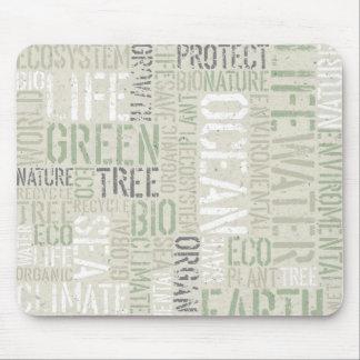 Ecology Words Mousepad