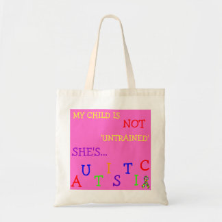 Econo-Designed - Autism Aware Girl's Diaper Tote! Tote Bag