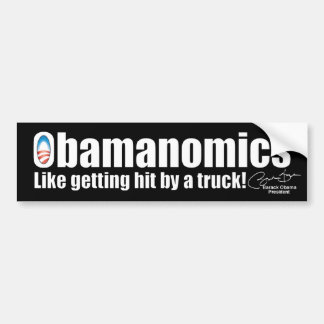 Economía anti de Obama Obamanomics Pegatina De Parachoque