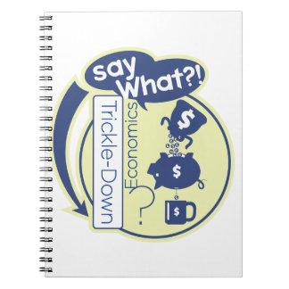 ¿Economía de goteo - diga lo que? Cuaderno