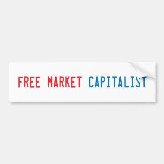 Economía de mercado libre etiqueta de parachoque