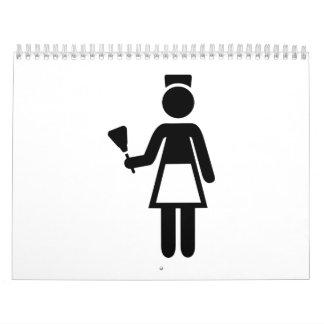 Economía doméstica de la limpieza calendarios de pared