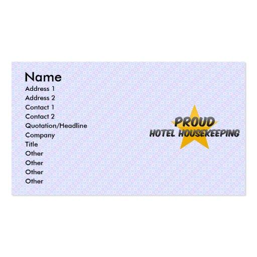 Economía doméstica orgullosa del hotel tarjeta de visita