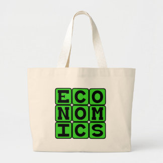 Economía, el estudio del dinero bolsa lienzo
