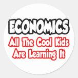 Economía… todos los niños frescos pegatina redonda