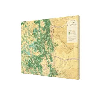 Economic Map of Colorado Canvas Print