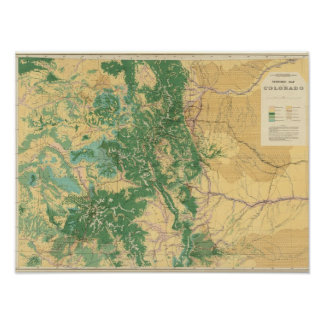Economic Map of Colorado Poster