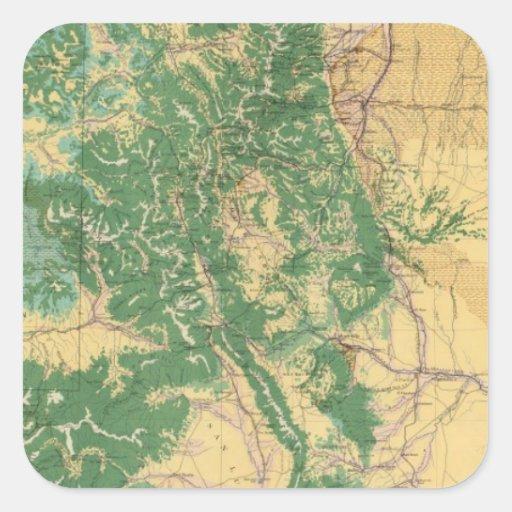 Economic Map of Colorado Sticker