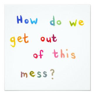 Economic meltdown personal mess unique art words card