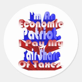 Economic Patriot Classic Round Sticker