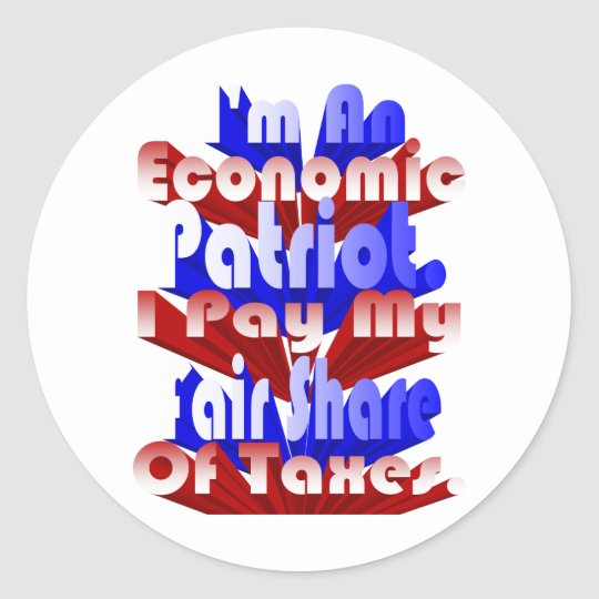 Economic Patriot Classic Round Sticker