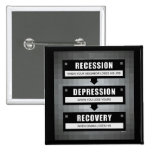 Economic Recovery Pinback Buttons