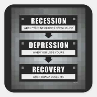 Economic Recovery Square Sticker