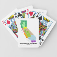 Economic Regions Of California (Map) Bicycle Playing Cards