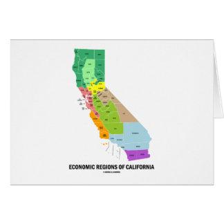 Economic Regions Of California (Map) Greeting Card