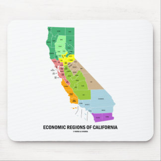 Economic Regions Of California (Map) Mouse Pad