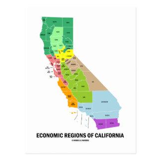 Economic Regions Of California (Map) Postcard