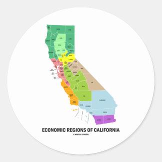 Economic Regions Of California (Map) Classic Round Sticker