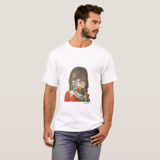 Economic rower of sleeve cuts 100% cotton T-Shirt