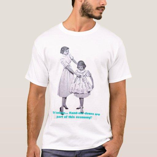 economic sarcasm & vintage art tee shirt