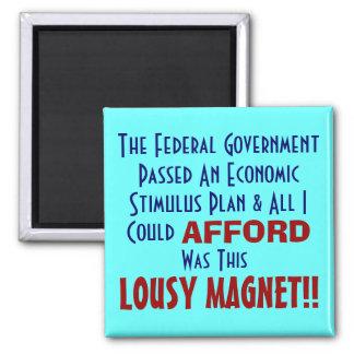 Economic Stimuls 2 Inch Square Magnet
