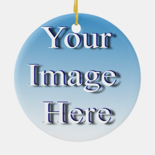 Economical Budget Image Template 2 Sided Double-sided Ceramic Round Christmas Ornament