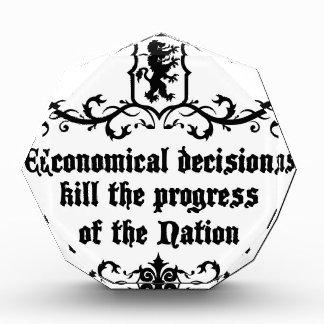 Economical Decisions Kill The Progress Medieval Award