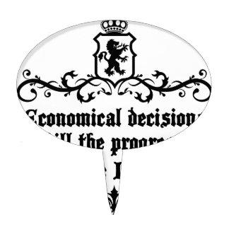 Economical Decisions Kill The Progress Medieval Cake Topper