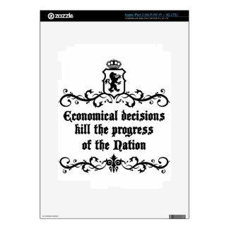 Economical Decisions Kill The Progress Medieval iPad 3 Decal