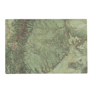 Economical Features of Colorado and New Mexico Placemat
