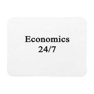 Economics 24/7 rectangle magnets
