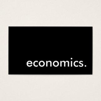 economics. business card