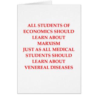 economics greeting card