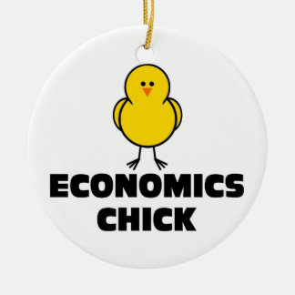 Economics Chick Ceramic Ornament