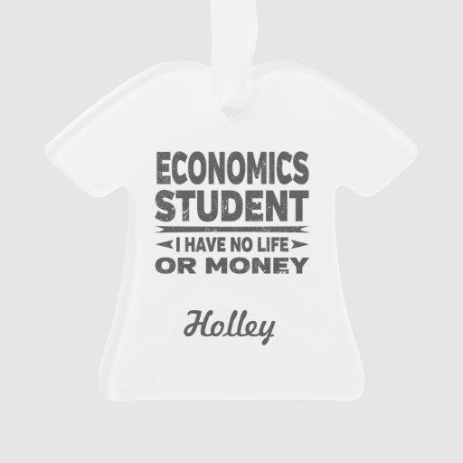 Economics College Student No Life or Money Ornament