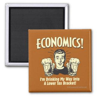 Economics: Drinking Lower Tax Bracket 2 Inch Square Magnet