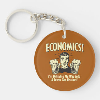 Economics: Drinking Lower Tax Bracket Keychain