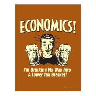 Economics: Drinking Lower Tax Bracket Postcard