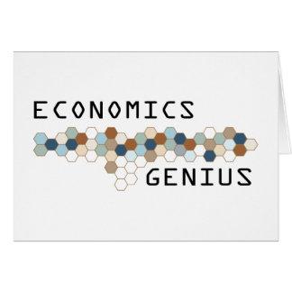 Economics Genius Greeting Card
