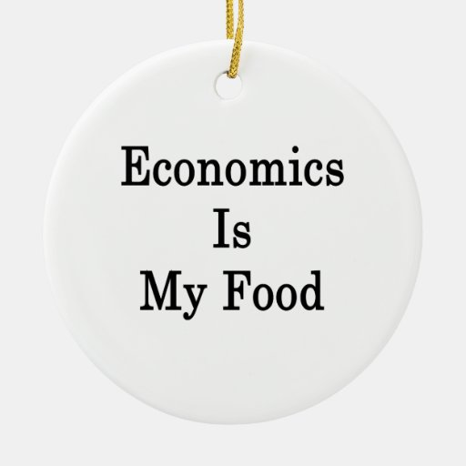 Economics Is My Food Double-Sided Ceramic Round Christmas Ornament