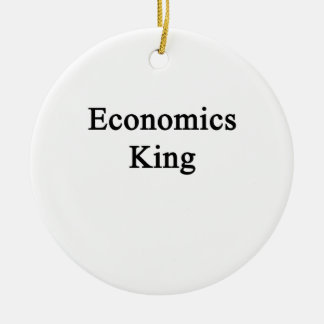 Economics King Ceramic Ornament