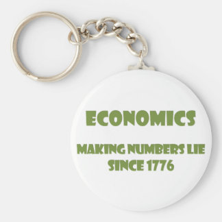 Economics: making numbers lie since 1776 basic round button keychain