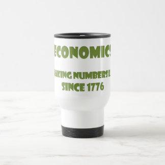 Economics: making numbers lie since 1776 15 oz stainless steel travel mug