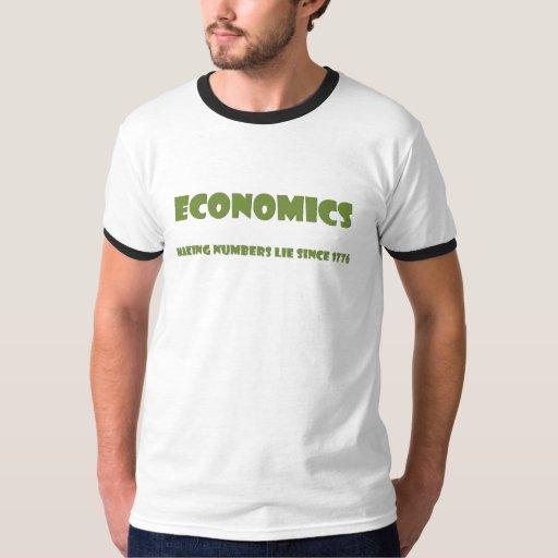 Economics: making numbers lie since 1776 T-Shirt